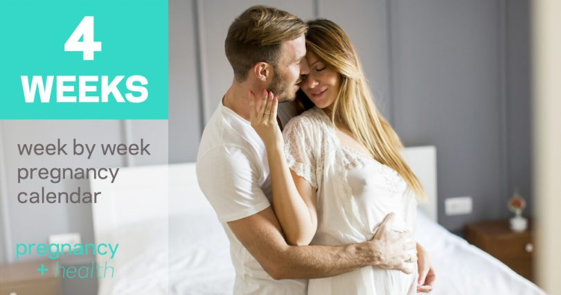 4 Weeks Pregnant: Symptoms, Cramping and Belly